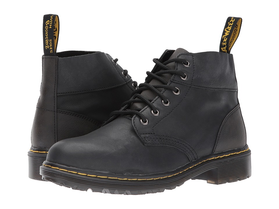 Dr. Martens Horton 6-Eye Chukka Boot (Black Vancouver Synthetic/Black Low