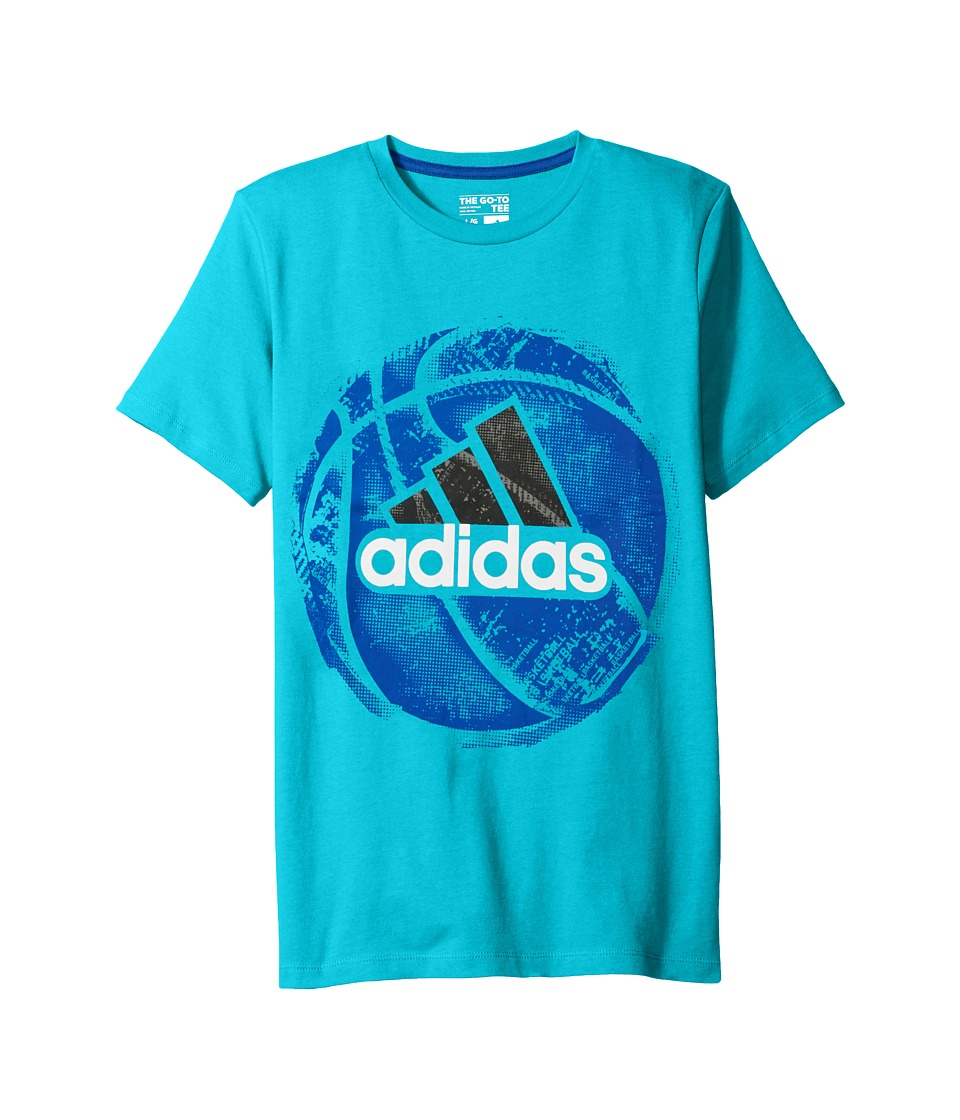 adidas Kids - Field and Court Tee (Big Kids) (Turquoise) Boy's T Shirt