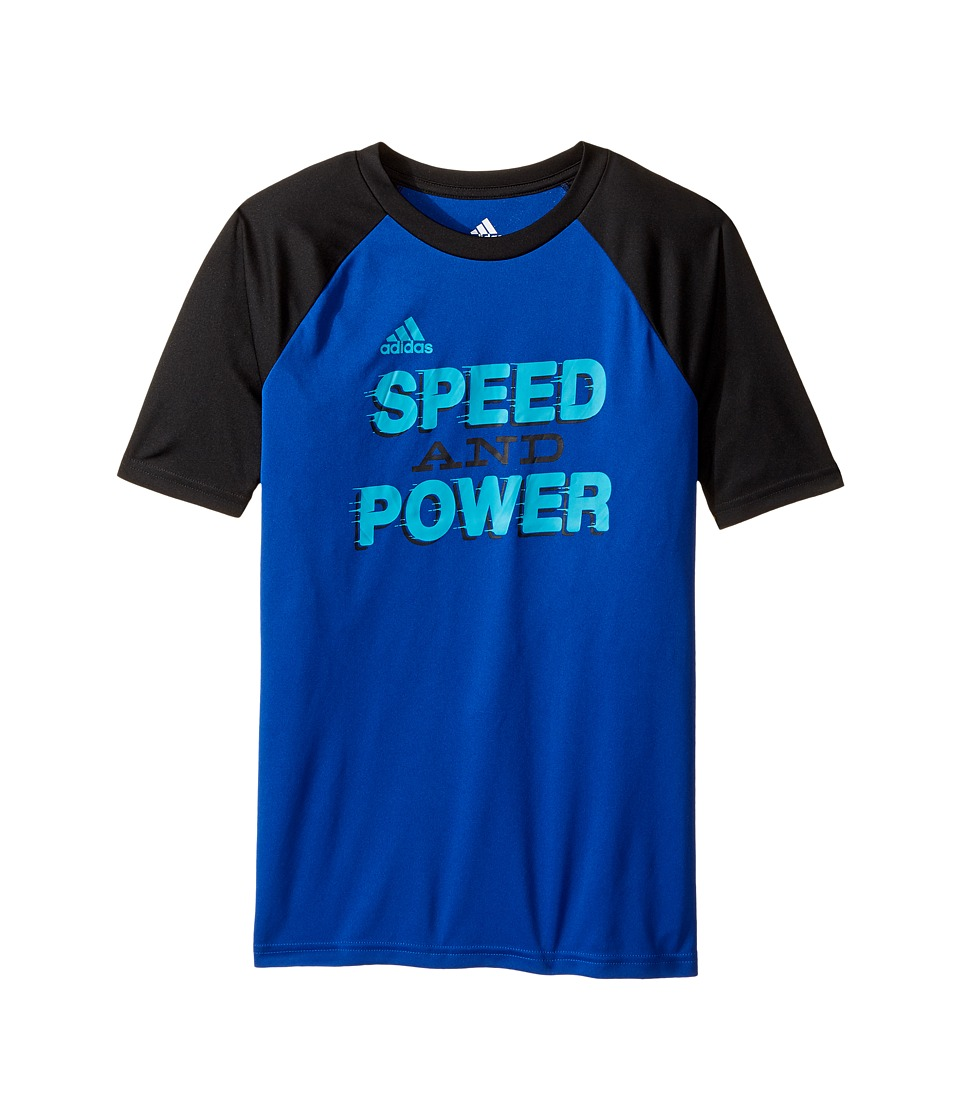 adidas Kids - Speed Power Tee (Big Kids) (Dark Blue) Boy's T Shirt