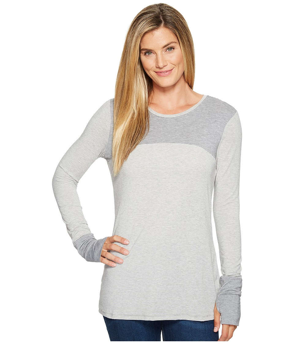 Toad&Co Swifty Long Sleeve Crew (Salt Stripe) Women