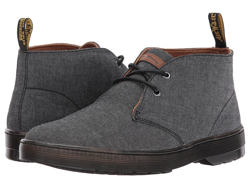 Dr. Martens Mayport 2-Eye Desert Boot (Black Chambray Twill/Tan Knott) Men