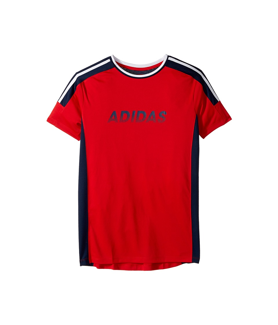 adidas Kids - Undefeated Top (Big Kids) (Red) Boy's Clothing