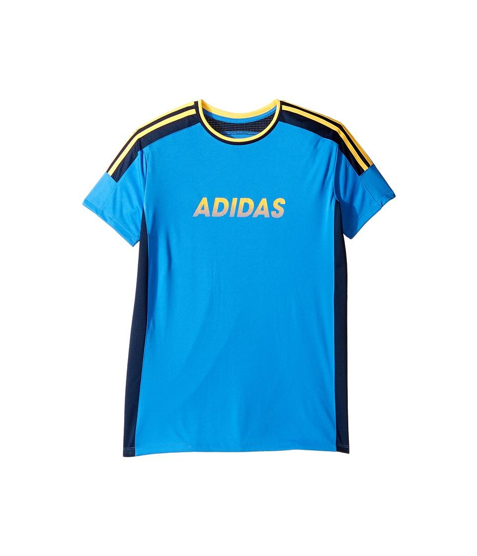 adidas Kids - Undefeated Top (Big Kids) (Medium Blue) Boy's Clothing
