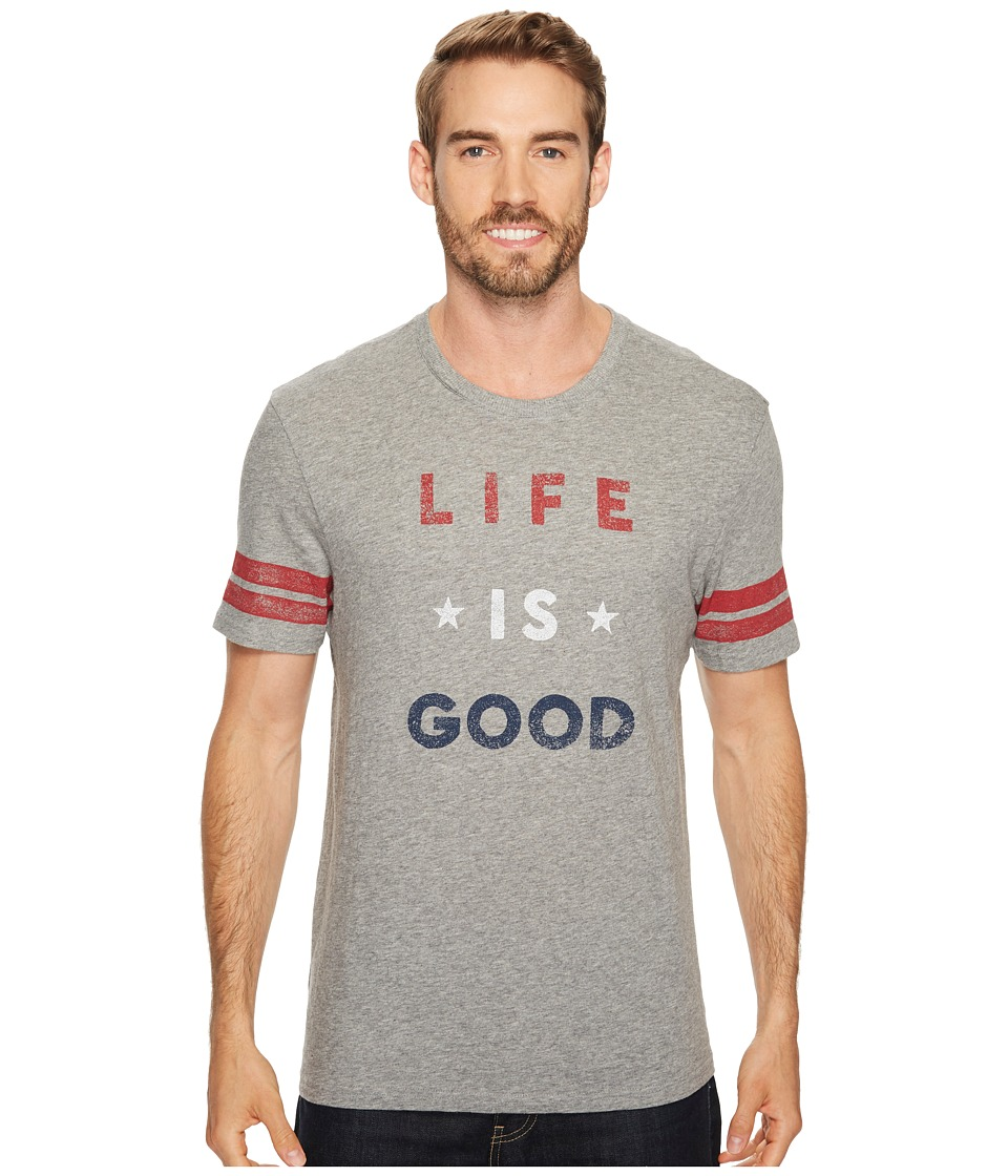 Life is Good Americana Life Is Good(r) Vintage Sport Tee (Heather Gray) Men