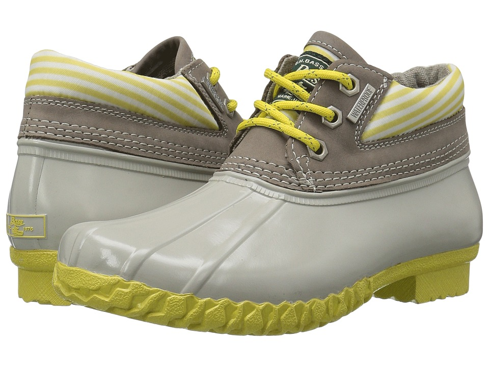 G.H. Bass & Co. - Dorothy (Limoncello Stripe Nylon/Soft Grey Leather) Women's Boots