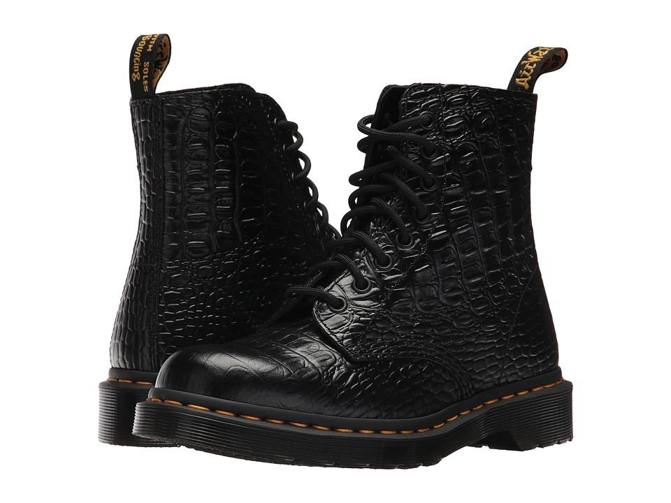 Dr. Martens Pascal Croco 8-Eye Boot (Black New Vibrance Croco) Women
