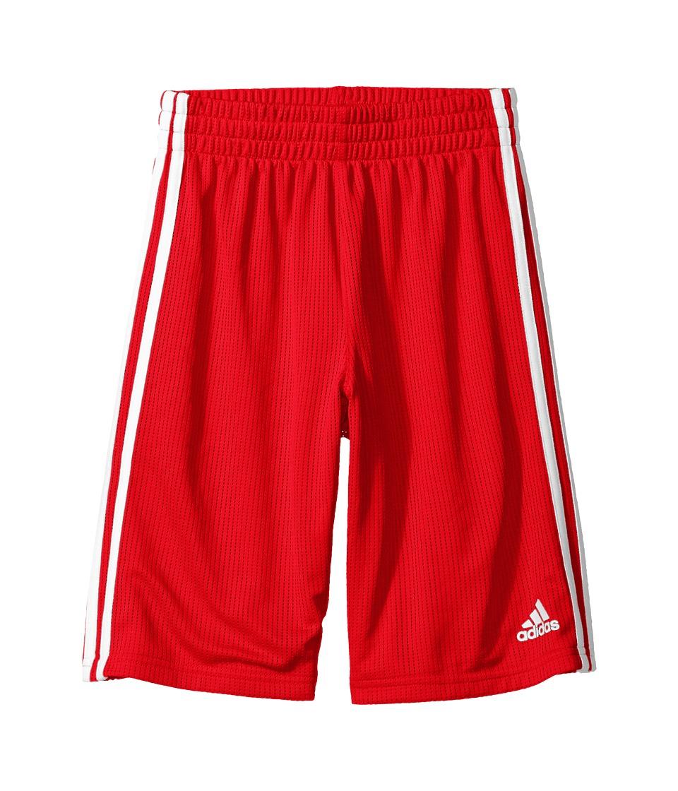 adidas Kids - Triple Up Shorts (Big Kids) (Red) Boy's Shorts