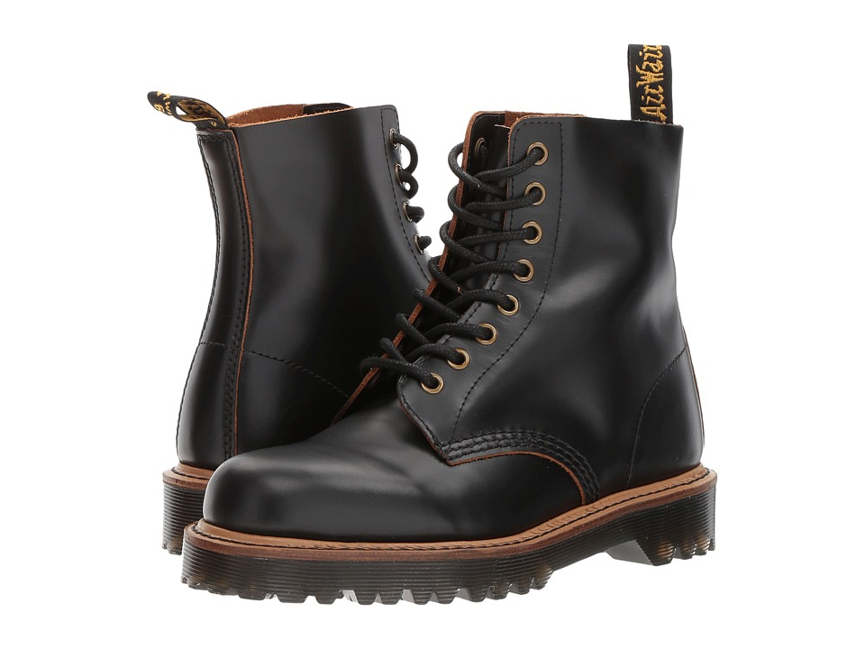 Dr. Martens Pascal II 8-Eye Boot (Black Vintage Smooth) Women