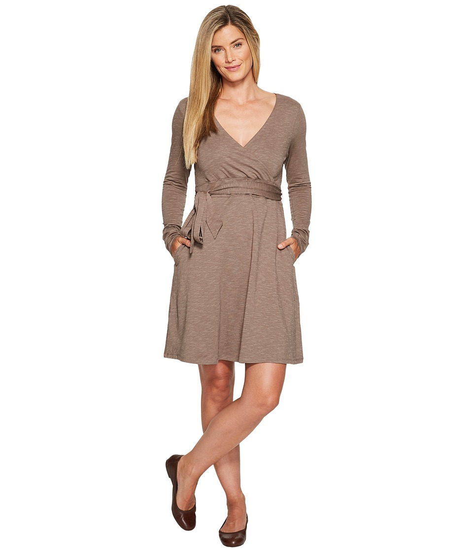 Toad&Co Cue Wrap Dress (Falcon Brown) Women