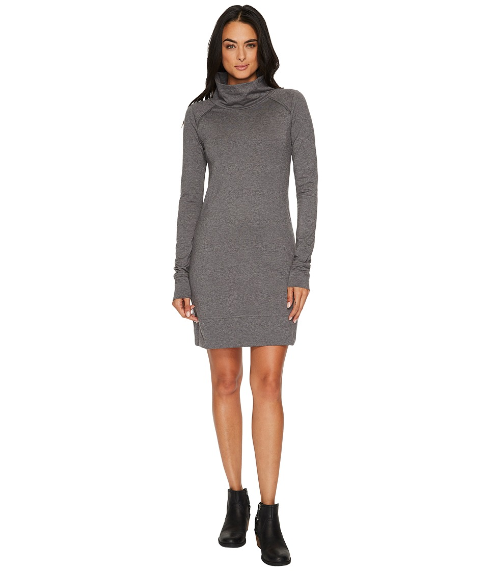 Toad&Co Aurora Long Sleeve Dress (Charcoal Heather) Women