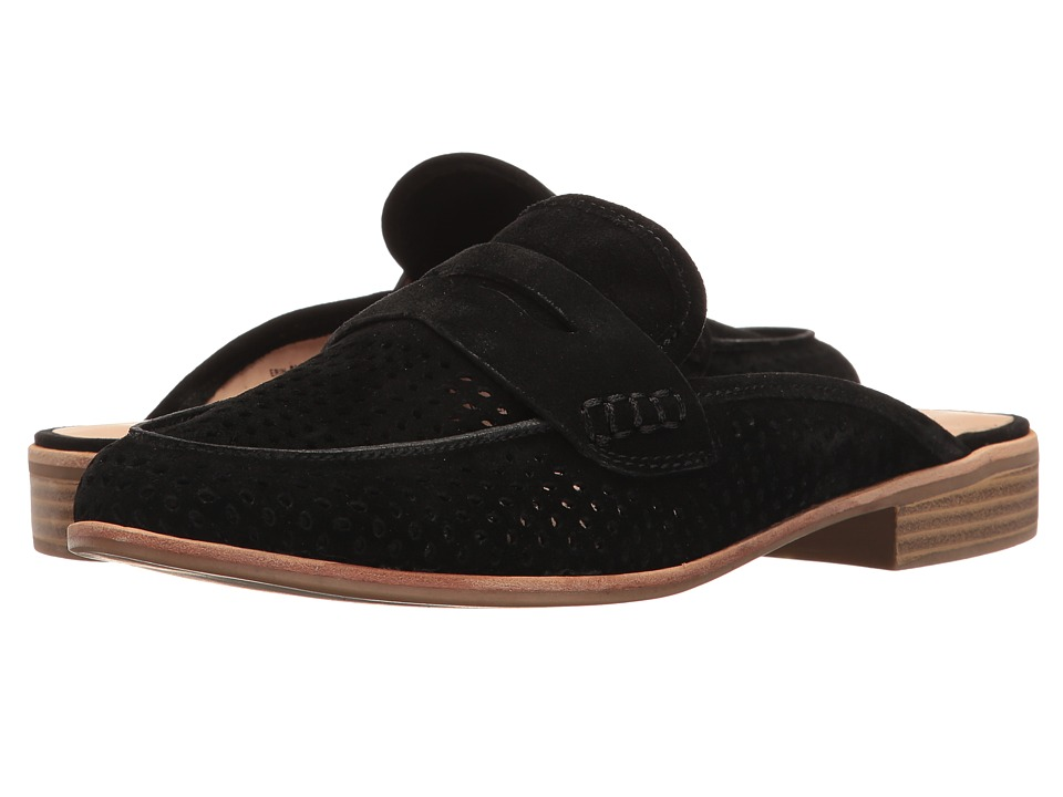 G.H. Bass & Co. Erin (Black Suede-Perf) Women