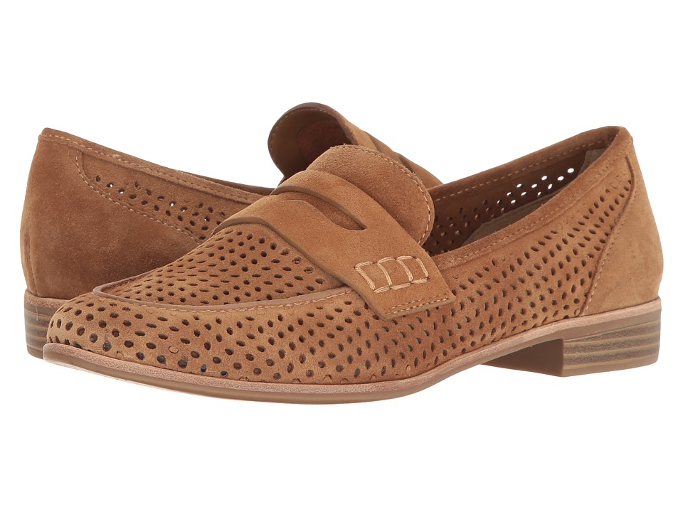 G.H. Bass & Co. Ellie (Camel Suede-Perf) Women's Shoes