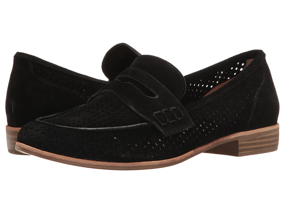 G.H. Bass & Co. - Ellie (Black Suede-Perf) Women's Shoes