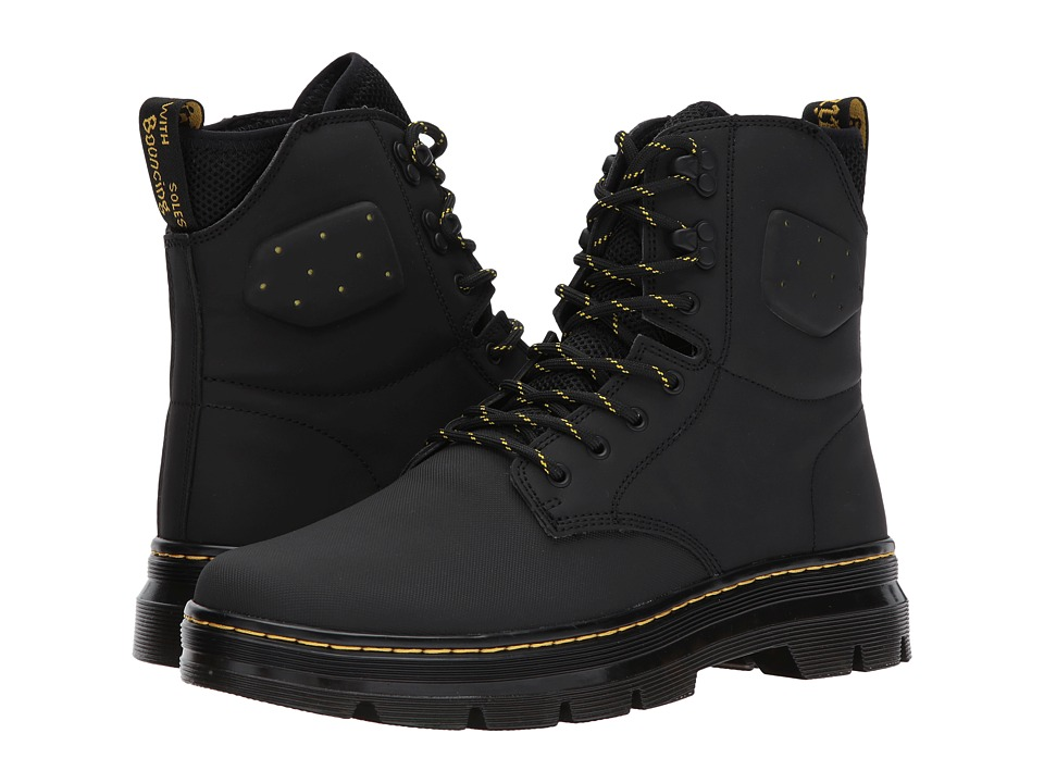 Dr. Martens Quinton Tall Boot (Black Ajax/Black Synthetic Nubuck/Black Extreme Spacer Cosmo) Boots