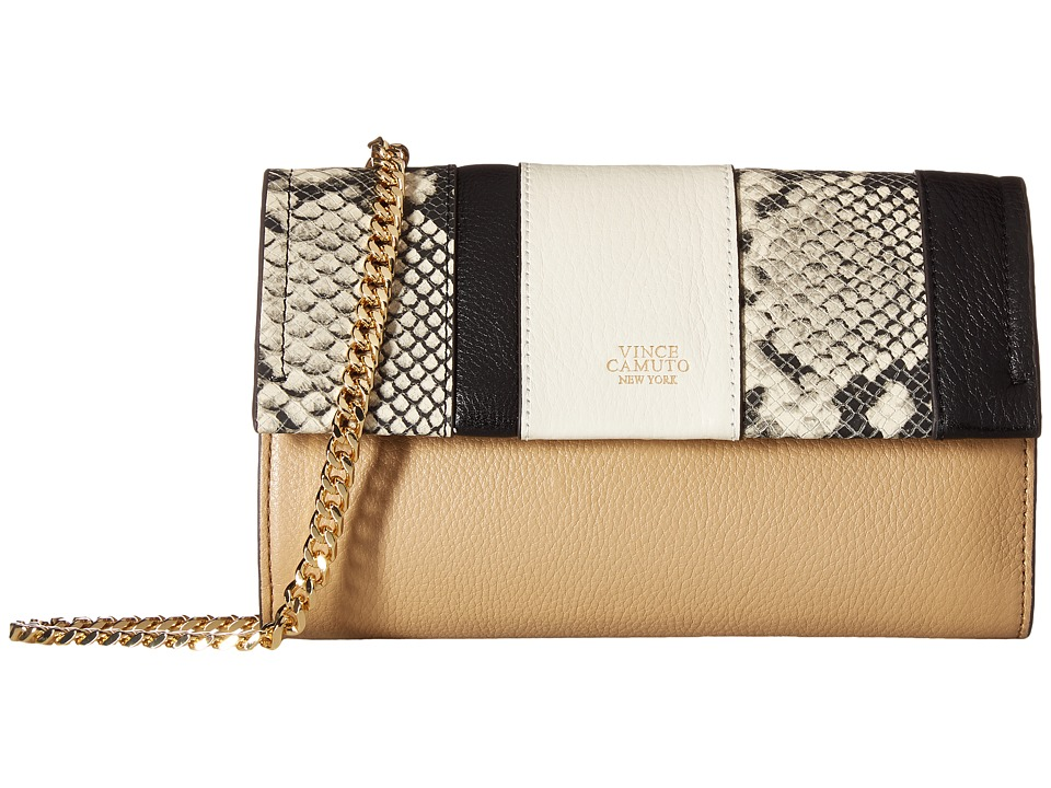 Vince Camuto - Zosia Crossbody (Black/Beige/Tumbleweed) Cross Body Handbags