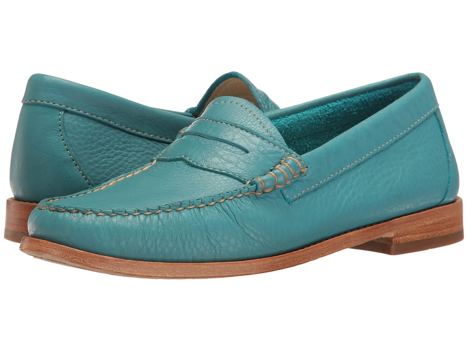 G.H. Bass & Co. Whitney Weejuns (Teal Soft Tumbled Leather) Women