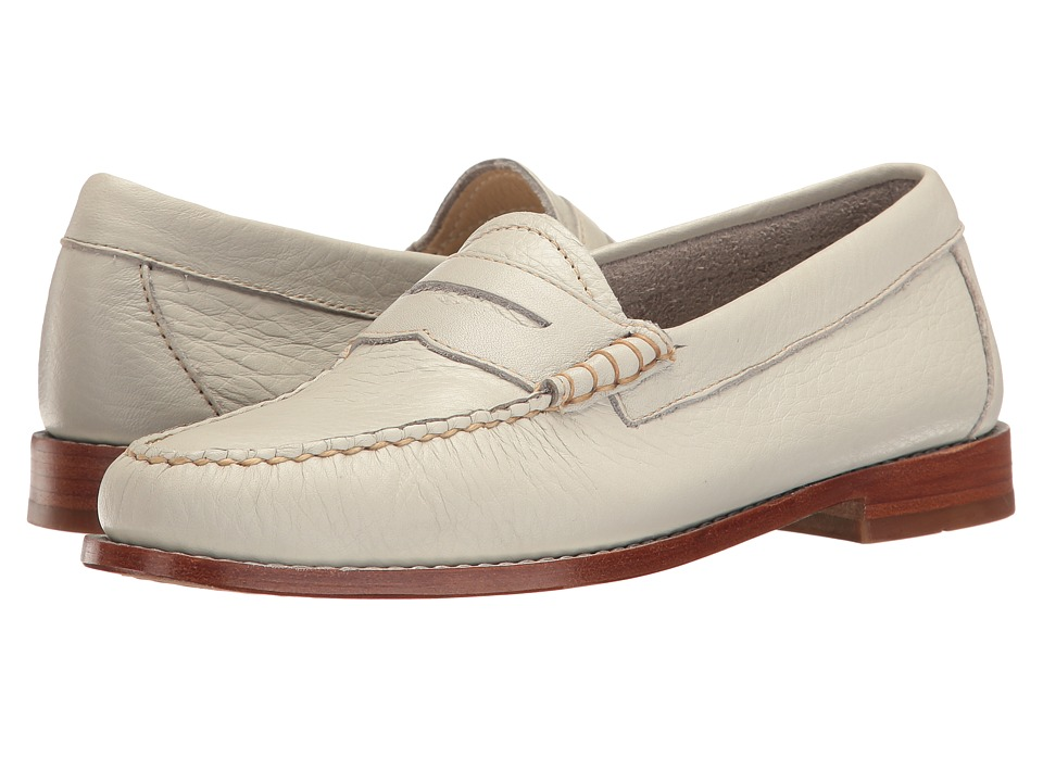 G.H. Bass & Co. - Whitney Weejuns (Soft Grey Soft Tumbled Leather) Women's Shoes