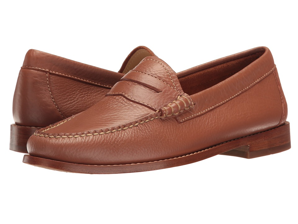 G.H. Bass & Co. Whitney Weejuns (Tan Soft Tumbled Leather) Women