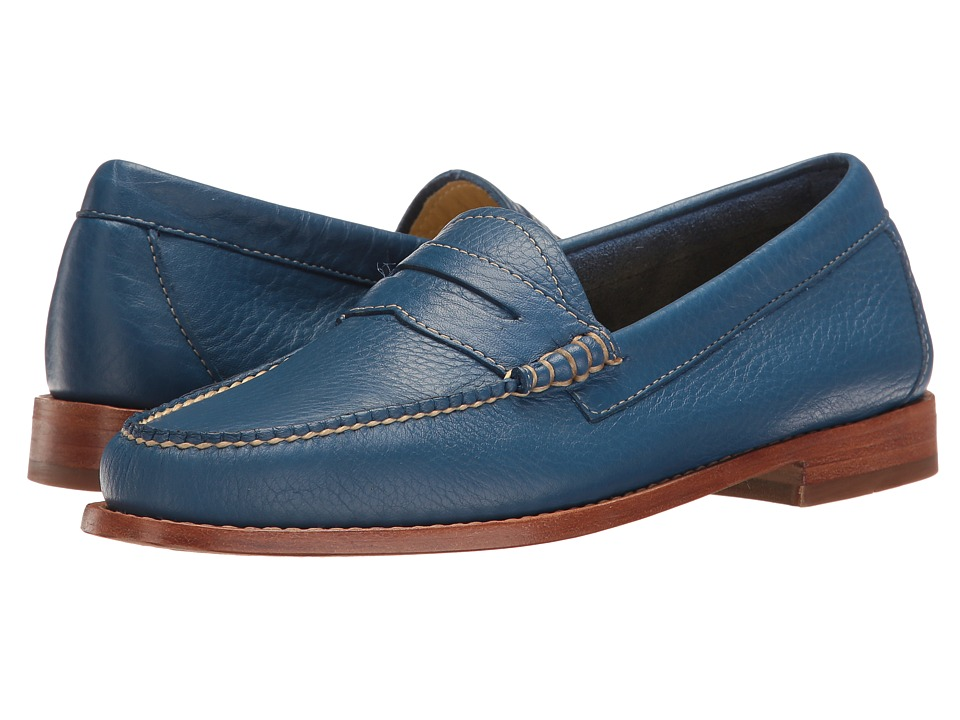 G.H. Bass & Co. - Whitney Weejuns (Cobalt Soft Tumbled Leather) Women's Shoes
