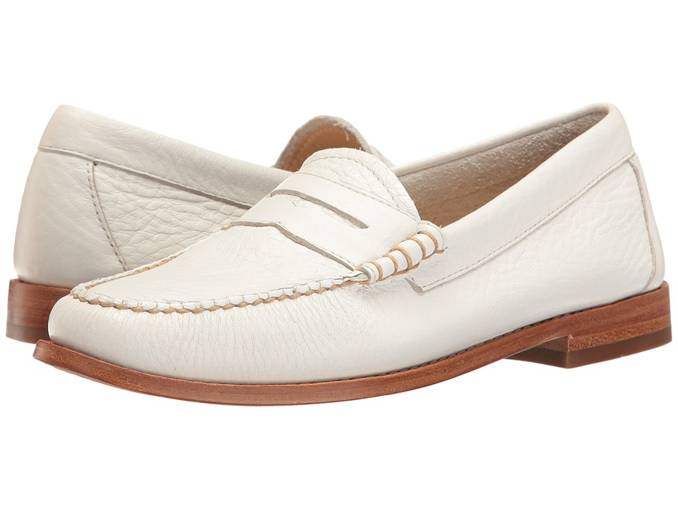 G.H. Bass & Co. - Whitney Weejuns (White Soft Tumbled Leather) Women's Shoes