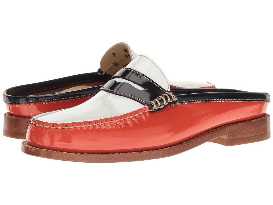 G.H. Bass & Co. Wynn Weejuns (Poppy/White Patent Leather) Women