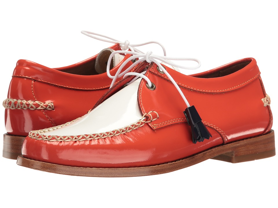 G.H. Bass & Co. - Winnie Weejuns (Poppy/White Patent Leather) Women's Shoes
