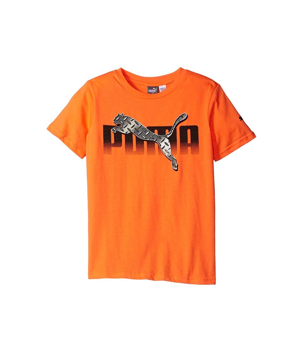 Puma Kids - Graphic PUMA Tee Sock Set (Big Kids) (Fire Orange) Boy's Active Sets