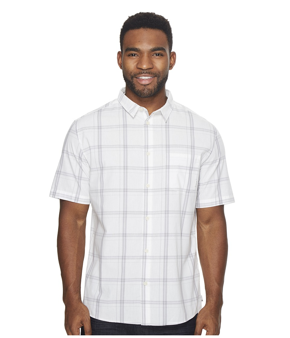 Quiksilver - Haten Rise Short Sleeve Shirt (Snow White Capen Rise) Men's Clothing