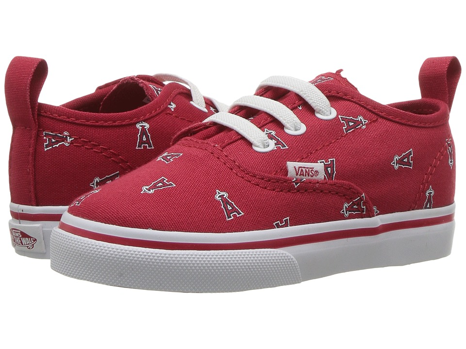 Vans Kids - Authentic V Lace x MLB (Toddler) ((MLB) Anaheim Angels/Red) Kids Shoes