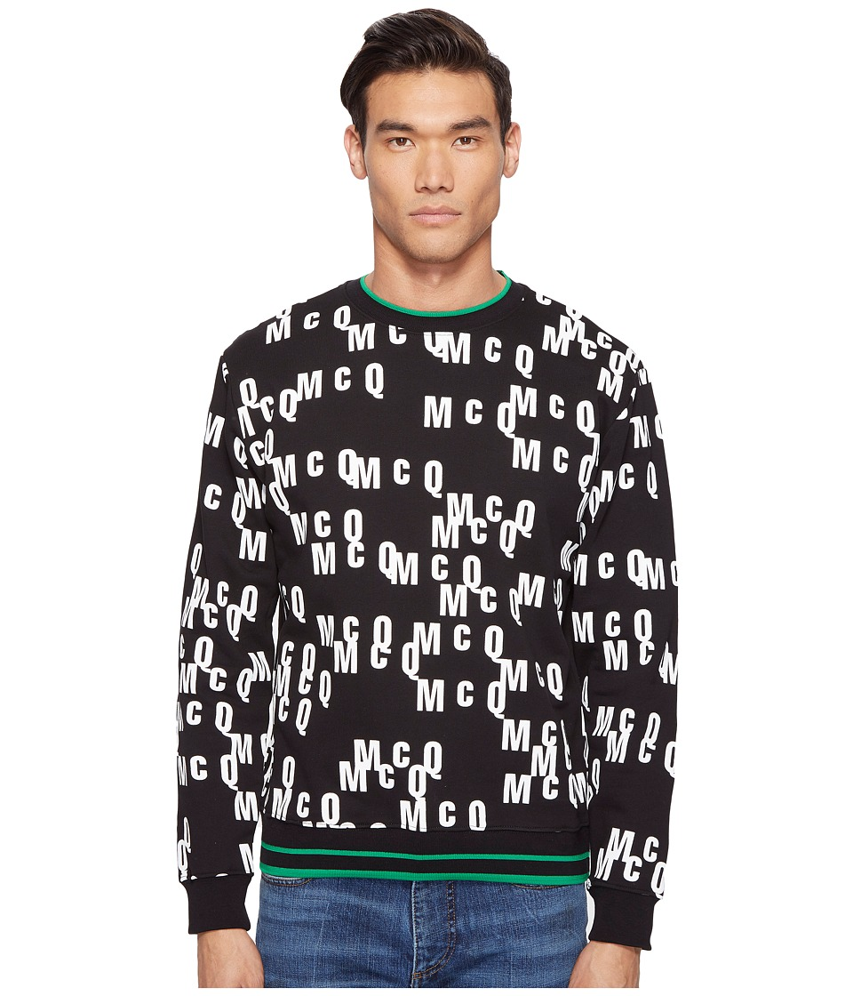 McQ - All Over Logo Sweatshirt (Black) Men's Sweatshirt