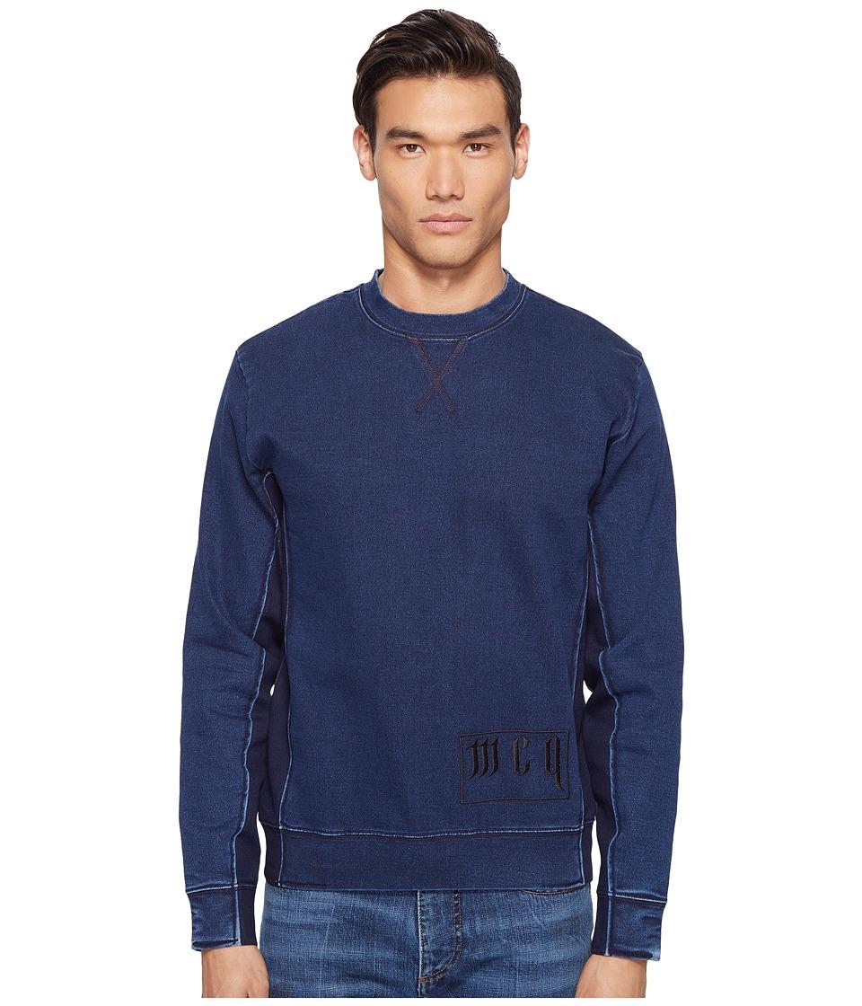 McQ - Washed Sweatshirt (Blue) Men's Sweatshirt