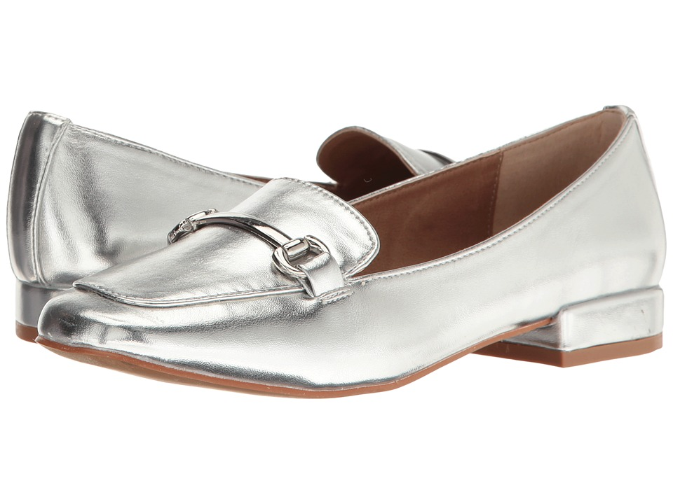 Steve Madden Paulo Silver Metallic Flat Shoes