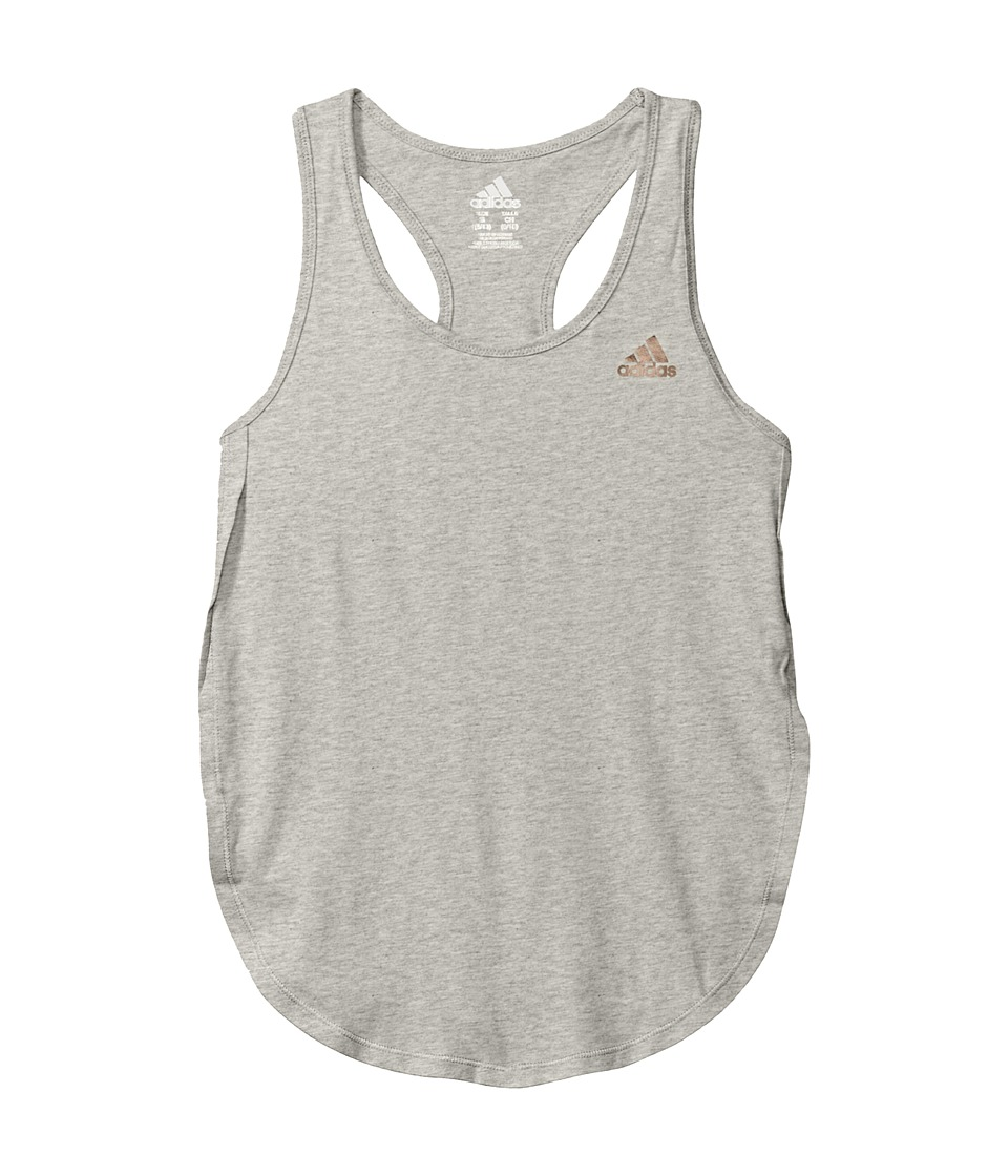adidas Kids - Go with The Flow Tank Top (Big Kids) (Grey) Girl's Sleeveless