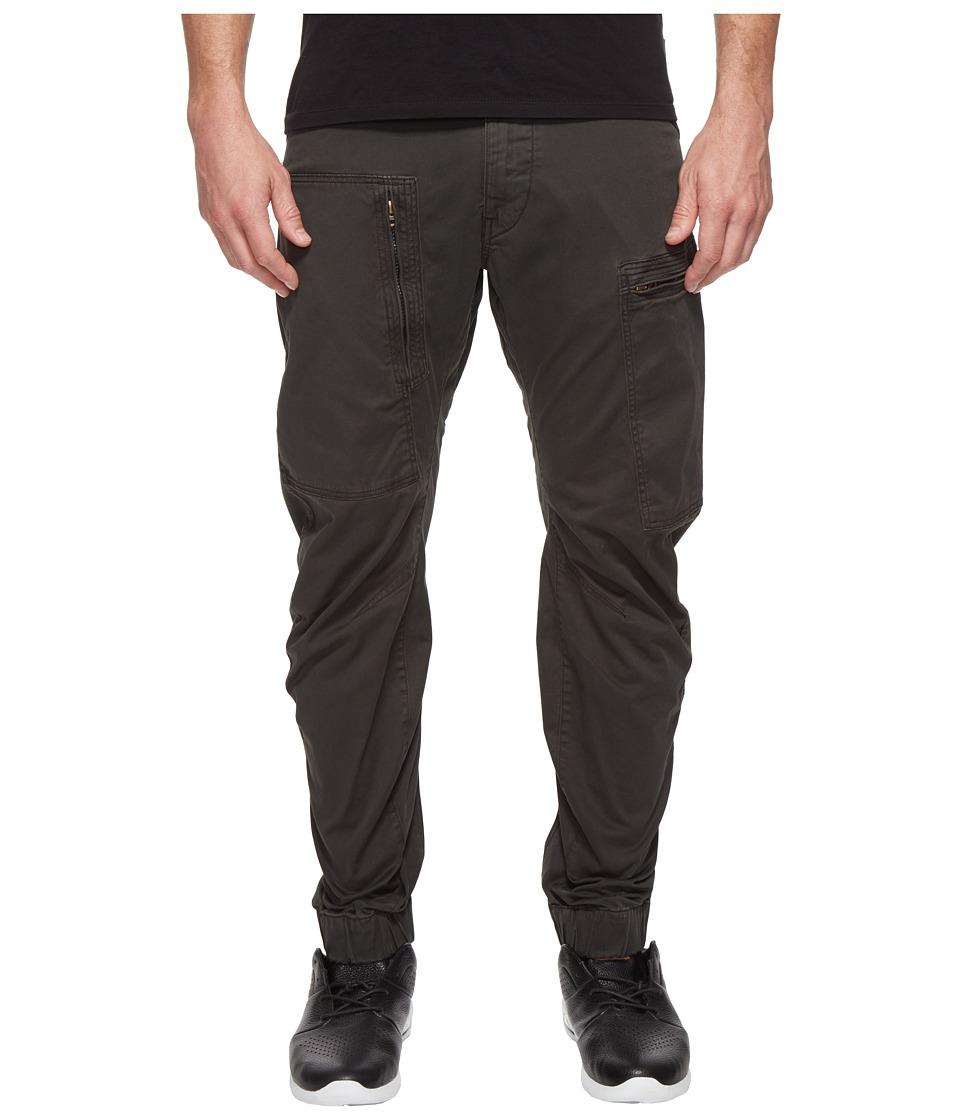 G-Star - Powel 3D Tapered Cuffed (Asfalt/Raven Overdye) Men's Casual Pants