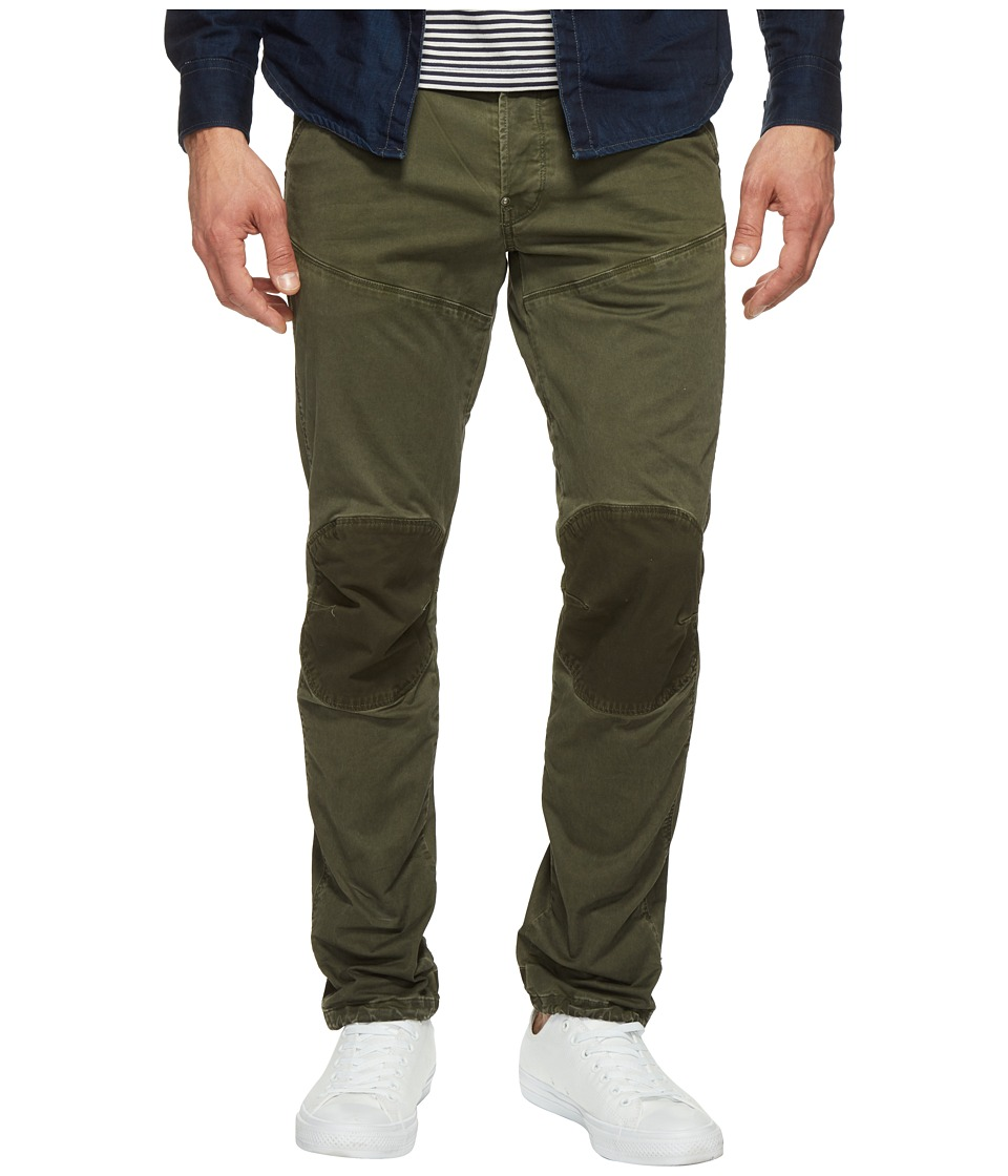 G-Star - 5620 3D Tapered Trainer Pattern Mix Colored Jeans in Dark Shamrock/Forest Night (Dark Shamrock/Forest Night) Men's Jeans
