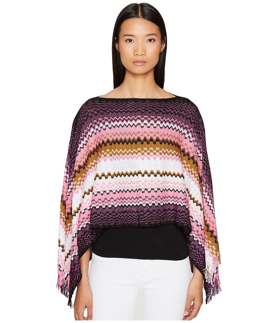 Missoni - Poncho (Pink/Purple) Women's Clothing