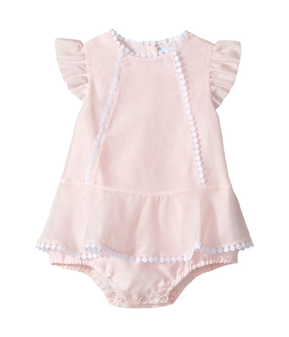 Lanvin Kids - Bodysuit w/ Dress Overlay (Infant) (Pink) Girl's Jumpsuit & Rompers One Piece
