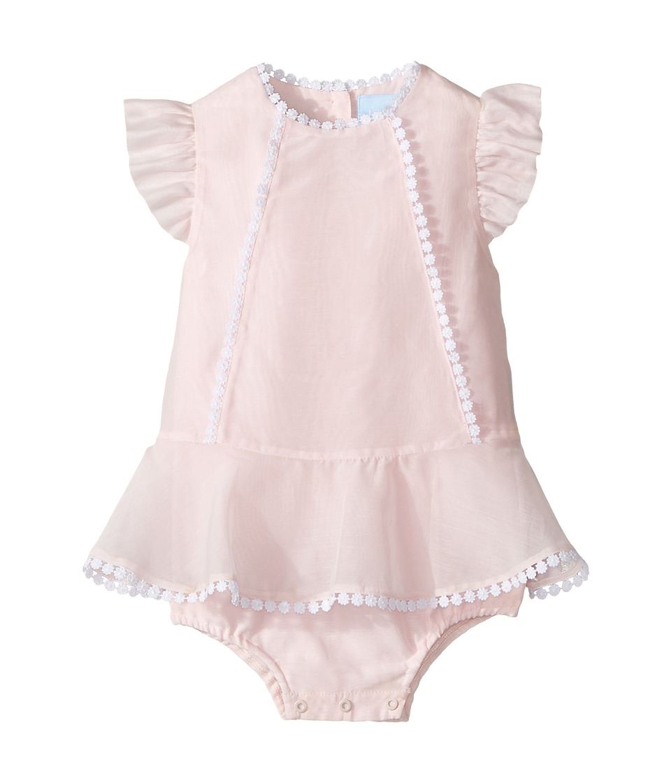 Lanvin Kids - Bodysuit w/ Dress Overlay (Infant) (Pink) Girl's Jumpsuit & Rompers One Piece