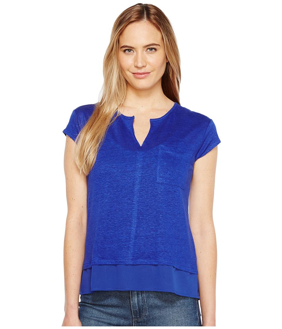 Sanctuary - City Mix Tee (Havana Blue) Women's Short Sleeve Pullover