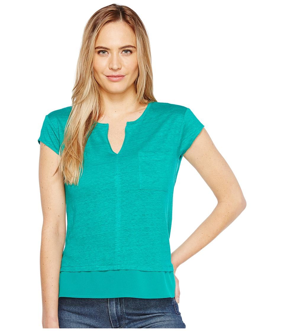 Sanctuary - City Mix Tee (Kingston Green) Women's Short Sleeve Pullover