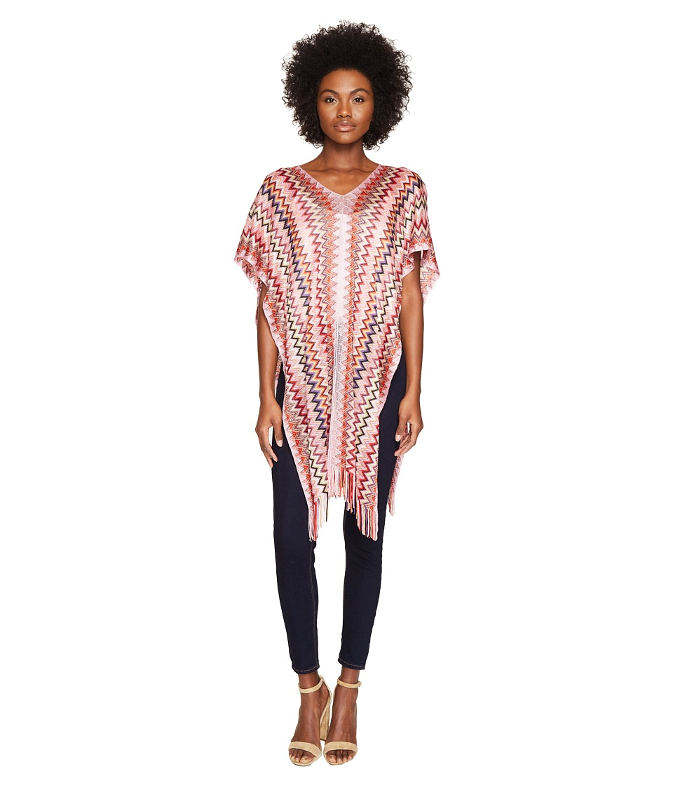 Missoni - Poncho (Multi Pink/Red) Women's Clothing