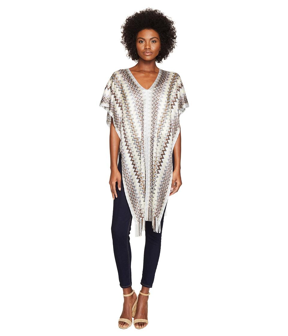 Missoni - Poncho (Multi Grey/Gold) Women's Clothing