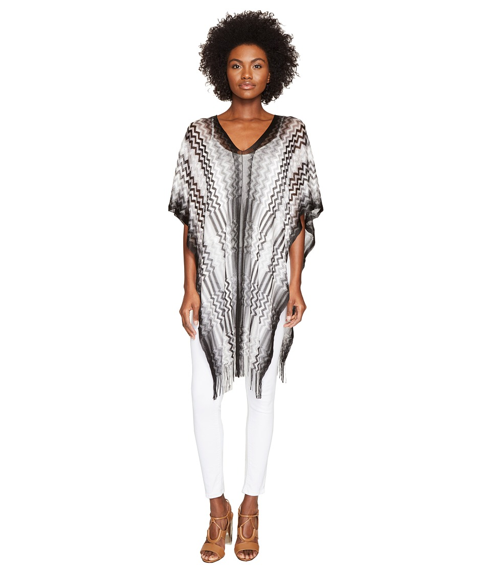 Missoni - Poncho (Multi Black) Women's Clothing