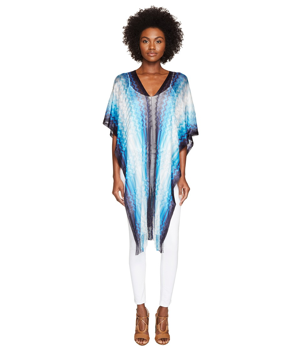 Missoni - Poncho (Multi Blue) Women's Clothing