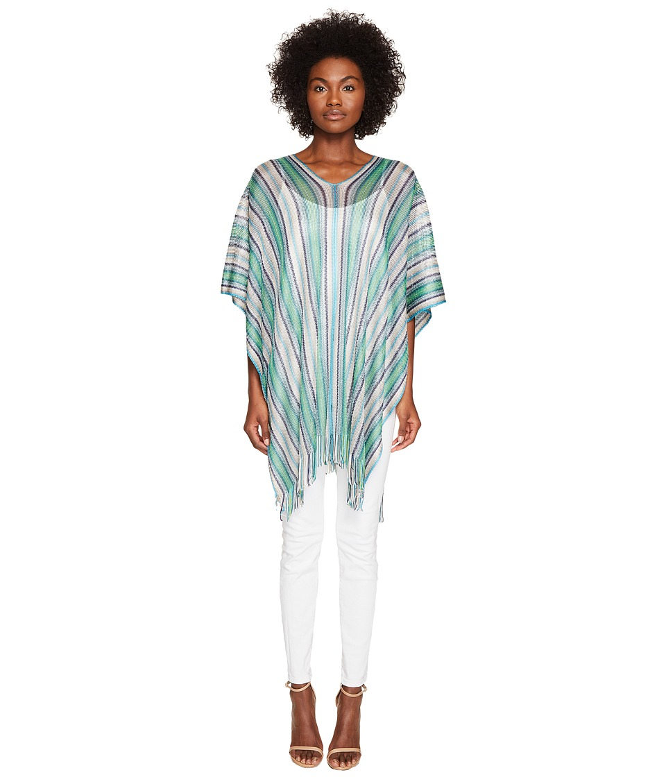 Missoni - Poncho (Green/Blue) Women's Clothing
