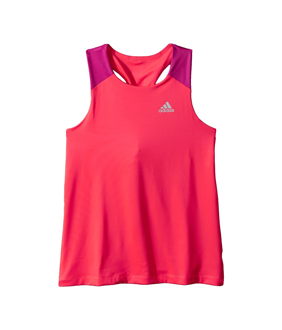 adidas Kids - Color Blocked Twist Back Tank Top (Big Kids) (Bright Red) Girl's Sleeveless