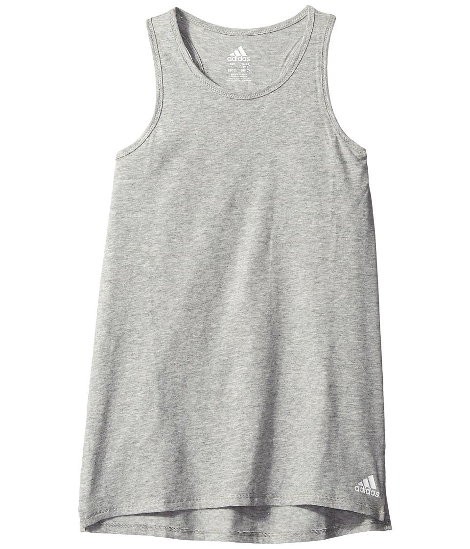 adidas Kids - Long Jump Tank Top (Big Kids) (Grey) Girl's Sleeveless
