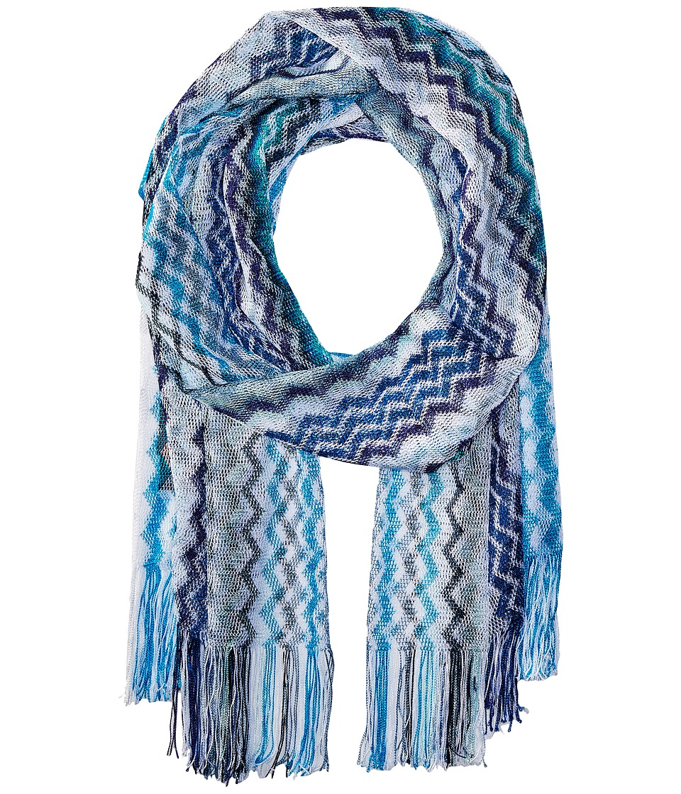 Missoni - Scarf (Multi Blue/Grey) Scarves