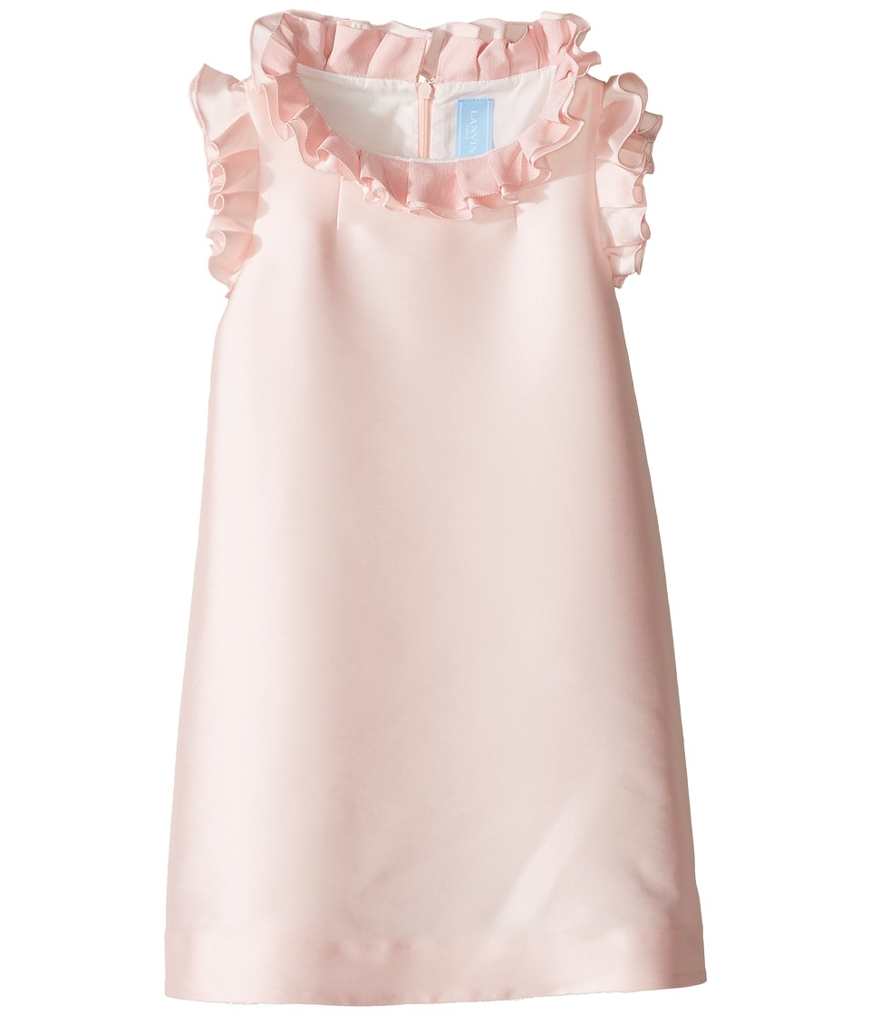 Lanvin Kids - Dress w/ Ruffle Collar Sleeve Detail (Little Kids/Big Kids) (Pink) Girl's Dress