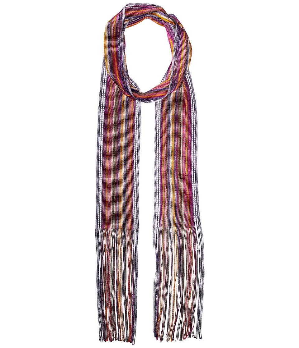 Missoni - Skinny Knit Tie Scarf (Pink/Purple) Scarves